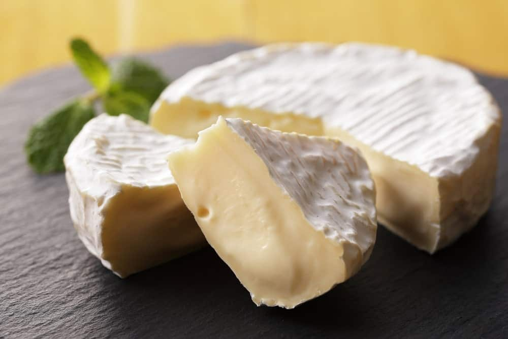 Slices of Camembert Cheese