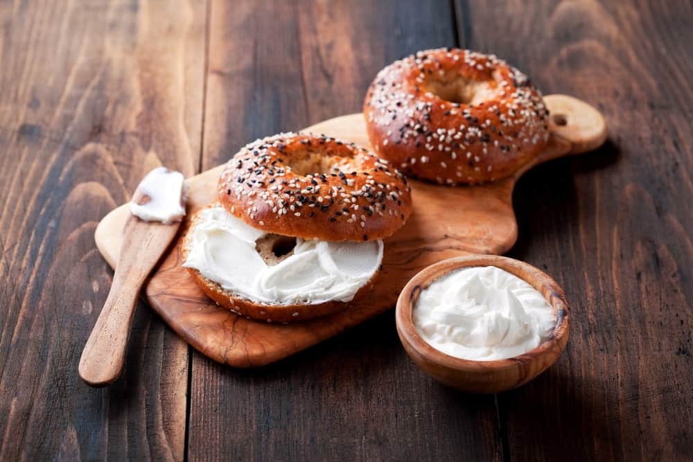 Bagels with Cream Cheese Spread