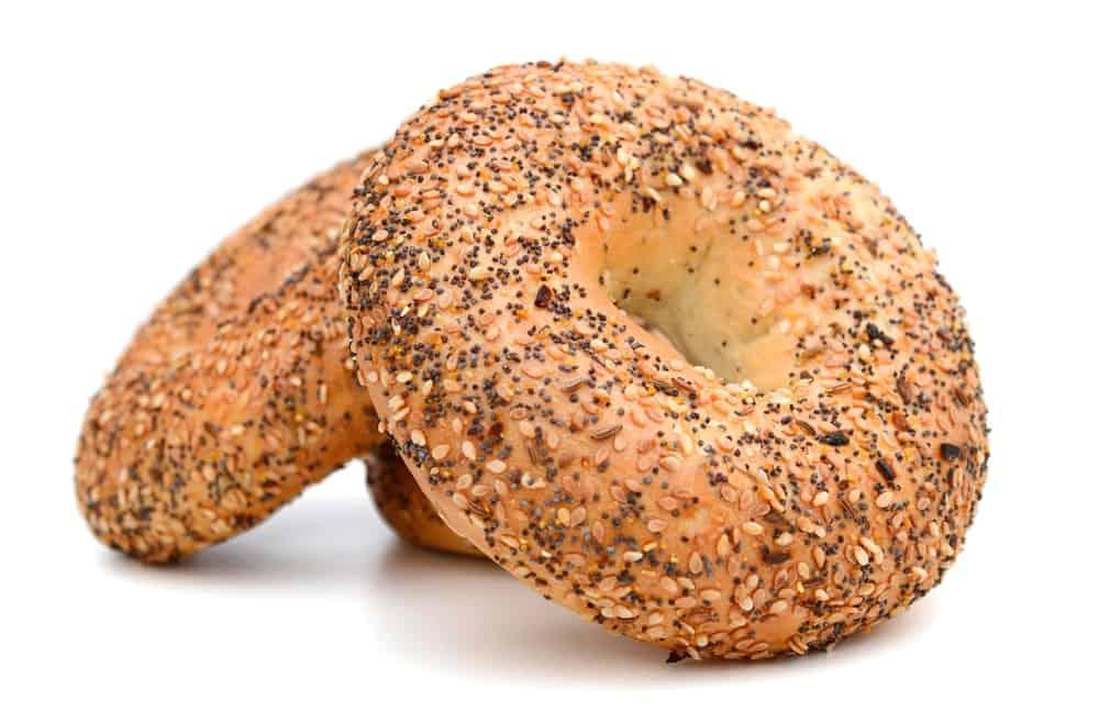 A Stack of Sesame Bagels