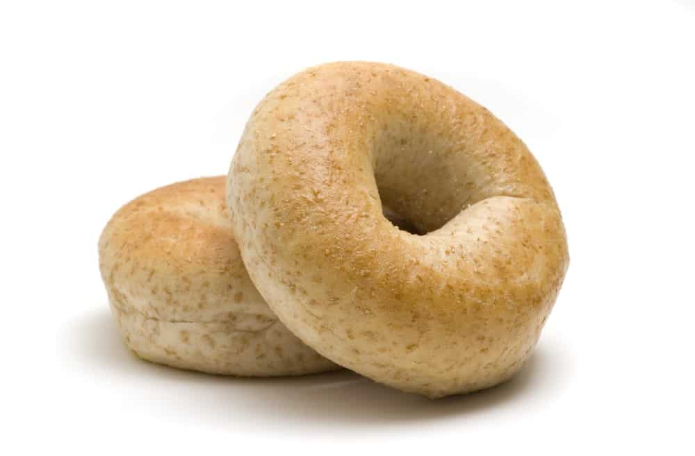 Two Whole Wheat Bagels