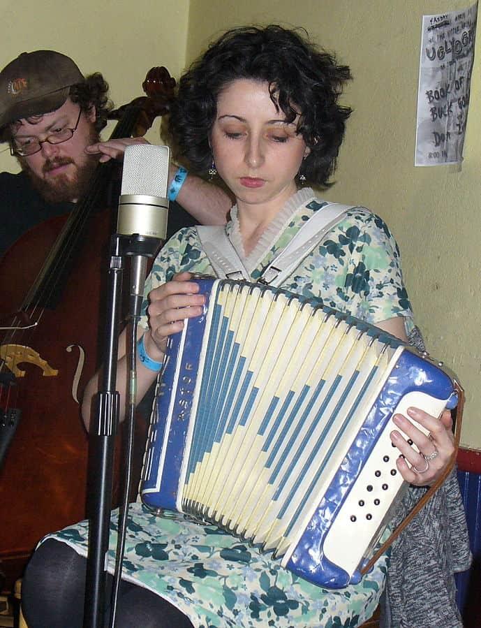 Folk accordionist