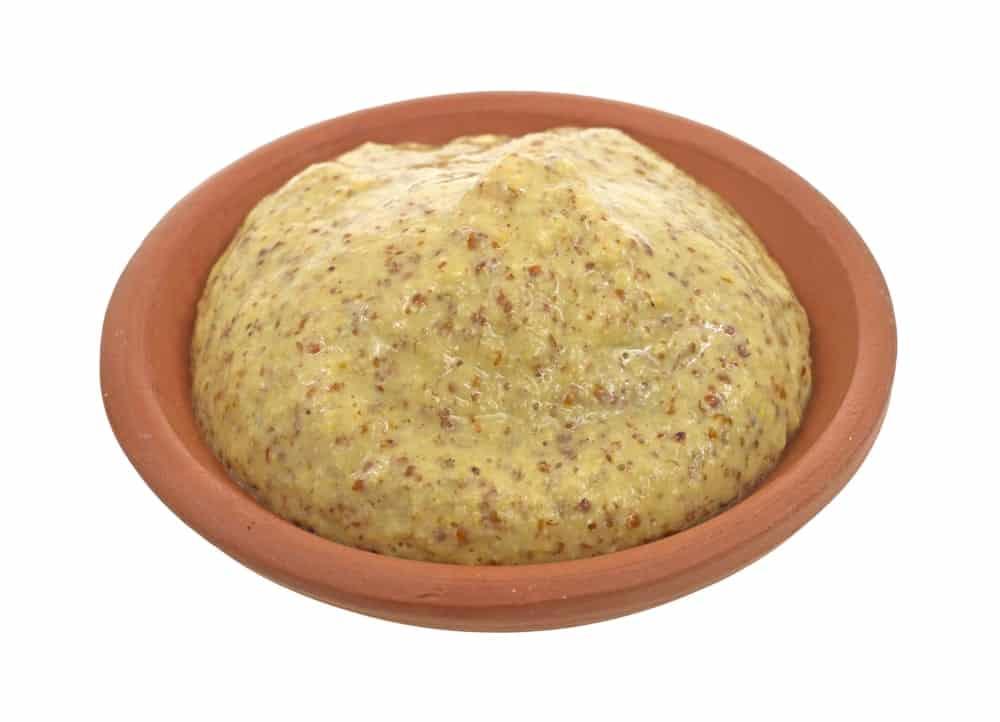 Horseradish sauce on a clay bowl