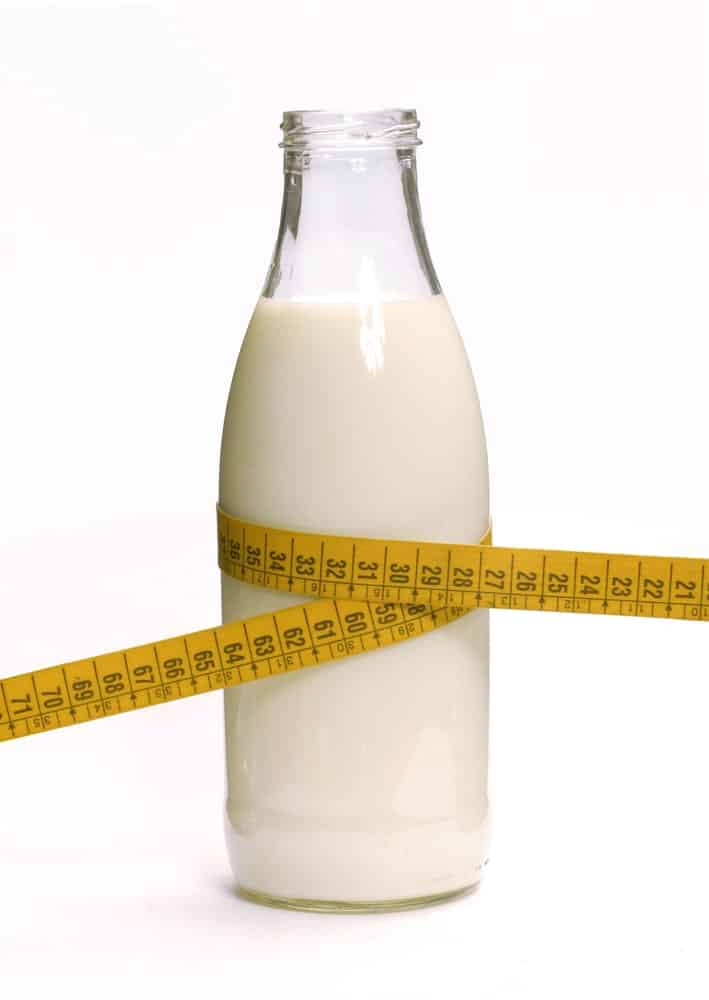A Bottle of Low Fat Milk