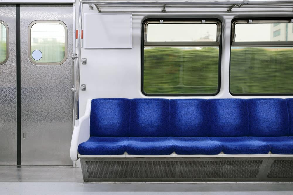 Short distance train interior