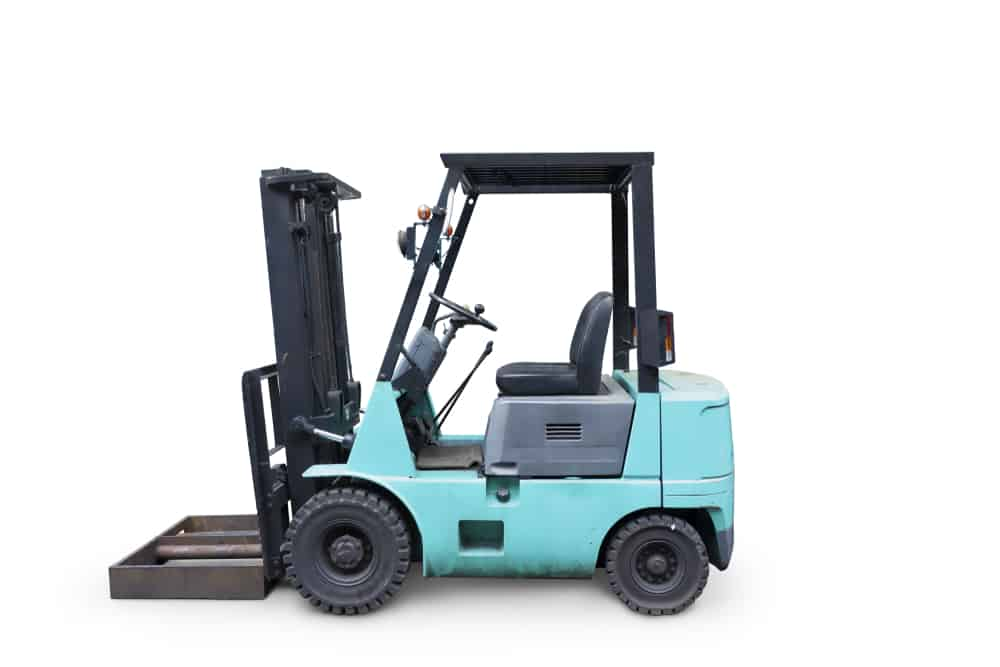 A model of a counterbalance forklift
