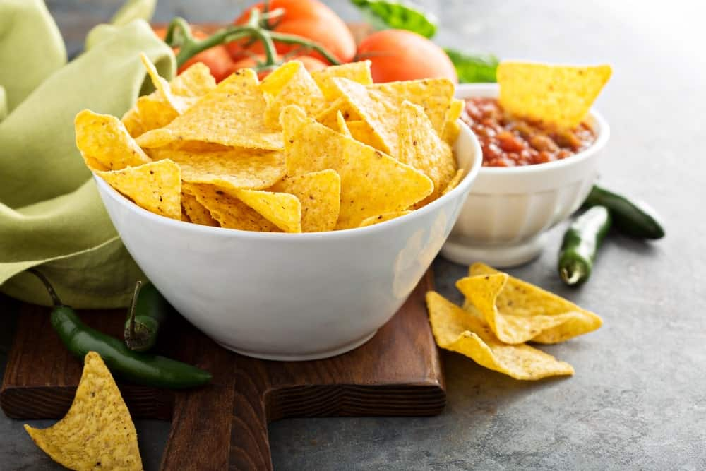 Tortilla chips in a bowl