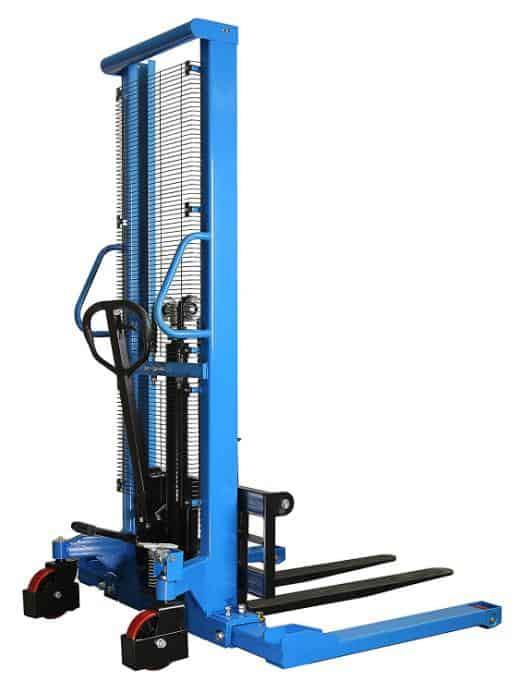 A blue DAZONE Manual Forklifts & Pallet Stackers
