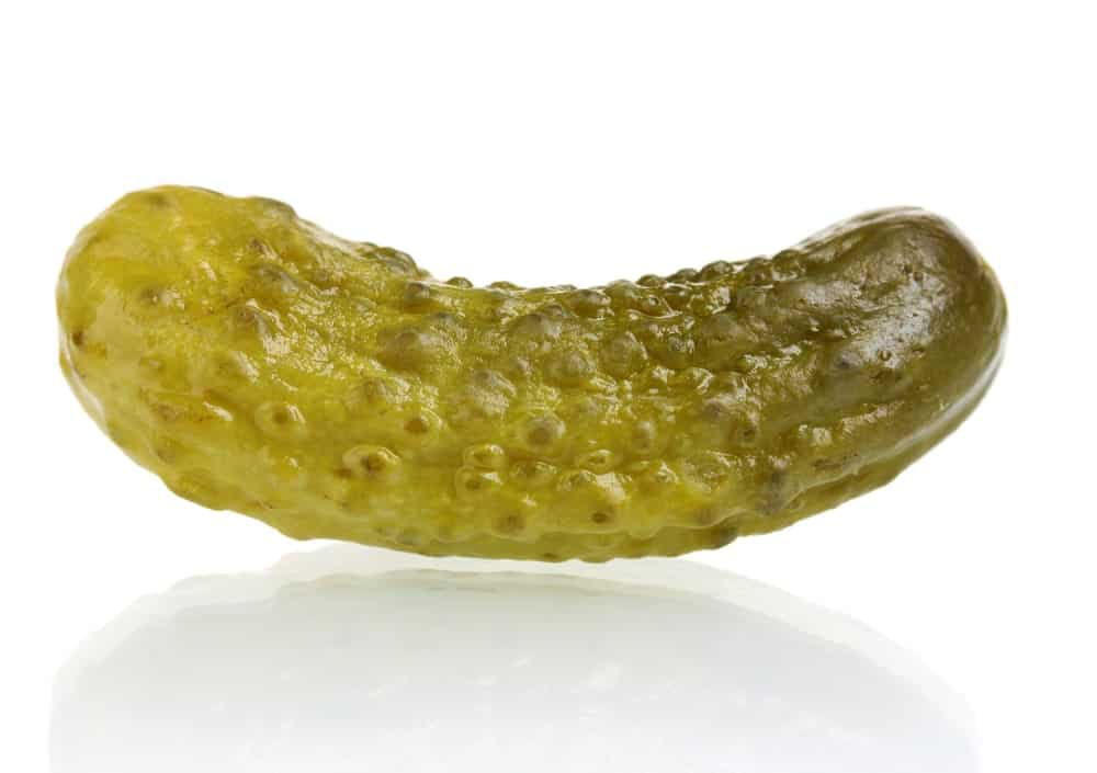 Overnight dill pickle