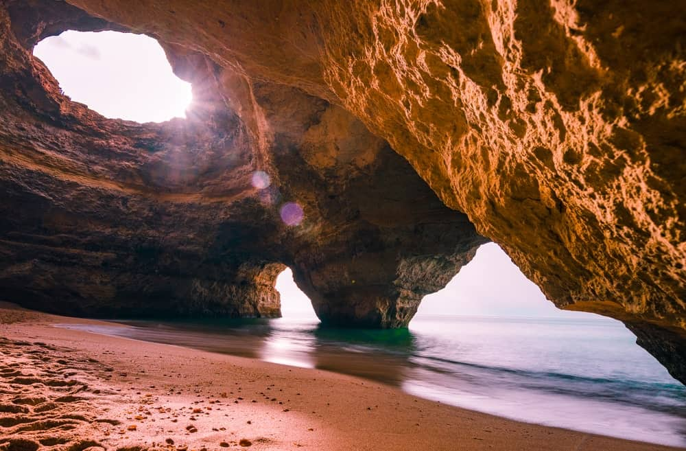 Mesmerizing sea cave in Portugal