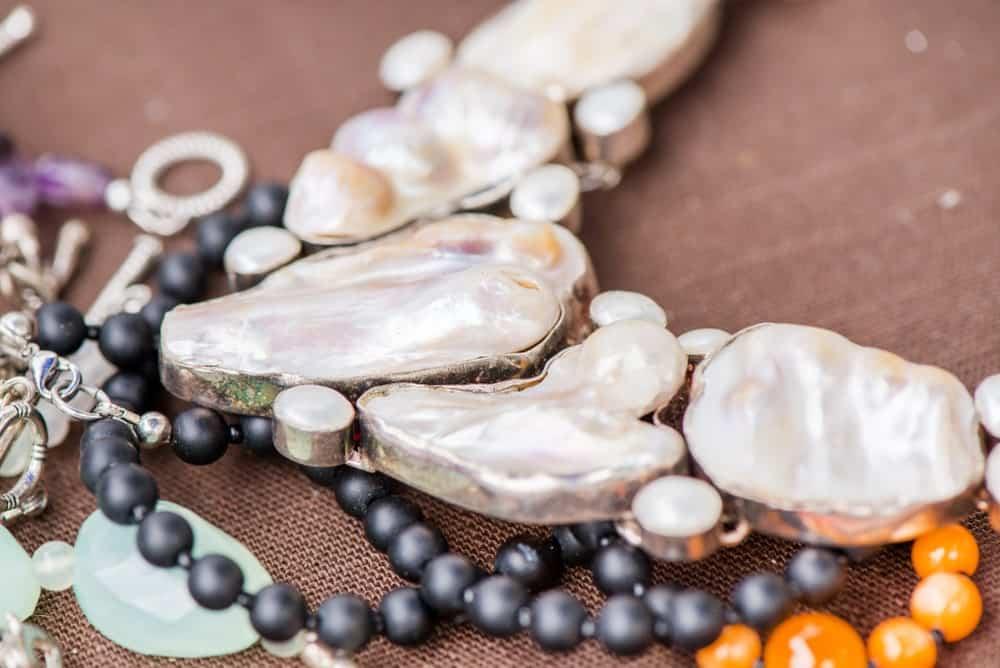 Variety of Biwa pearls