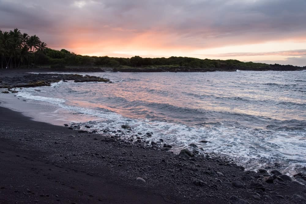 A Gorgeous Black Sand Beach