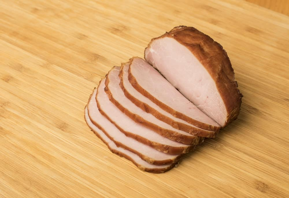 Slices of Canadian bacon