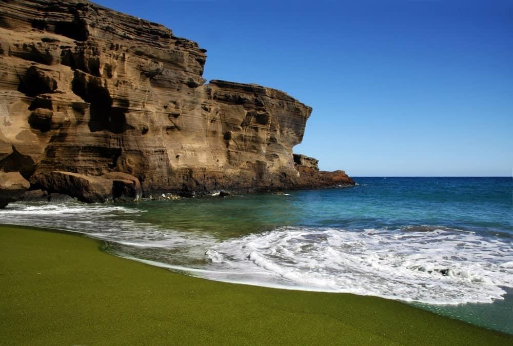 A Beautiful Green Sand Beach