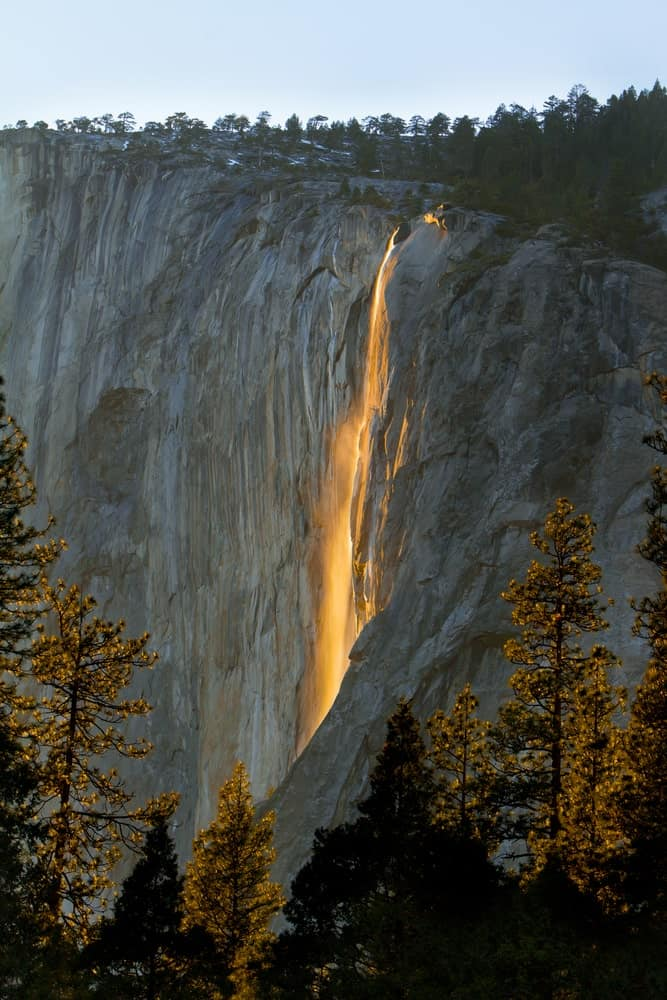 Horsetail falls in Yosemite