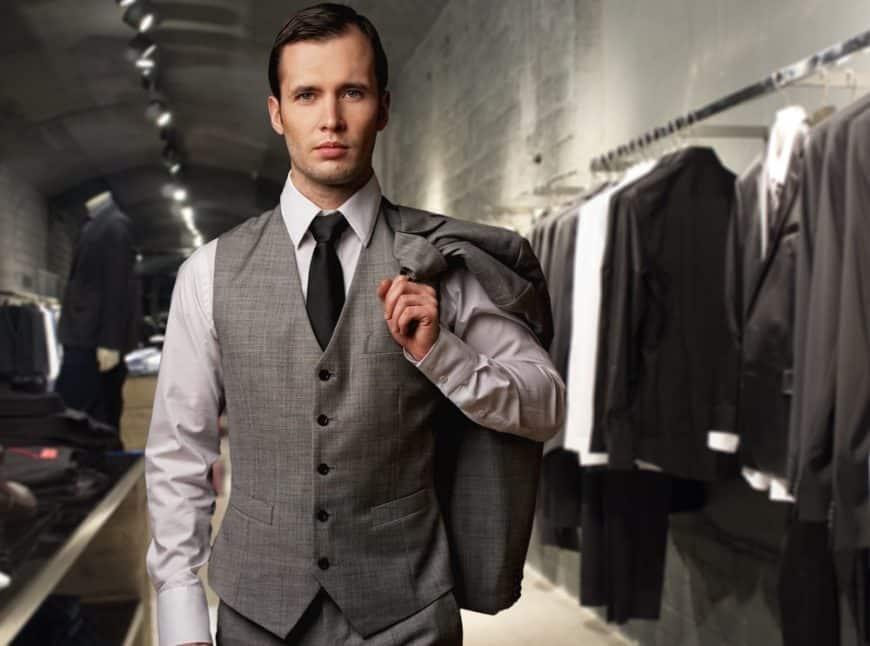 A Businessman wearing a Vest