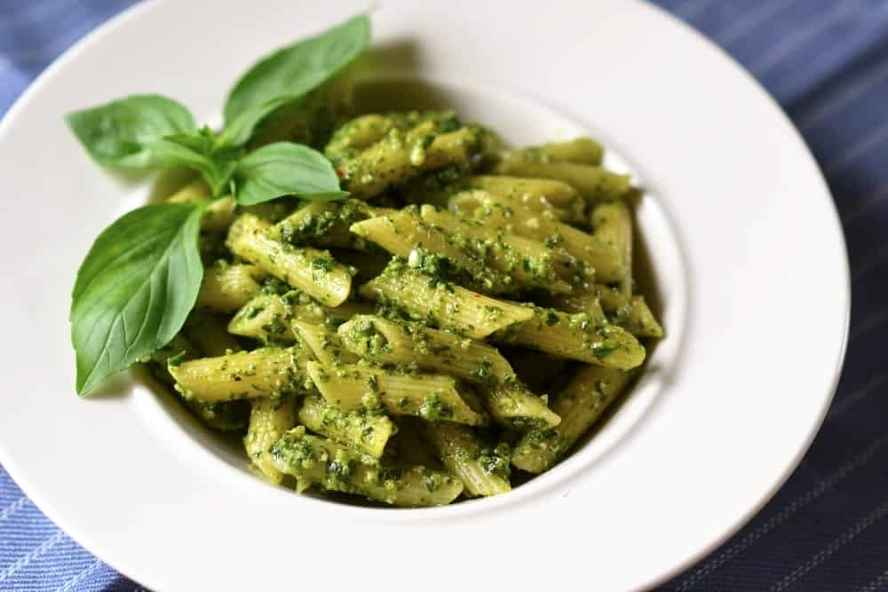 Pesto sauce in pasta