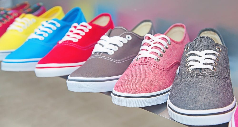 Variety of plimsoll sneakers