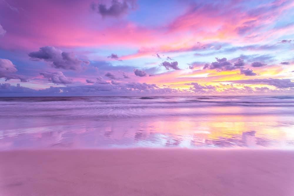Lovely Purple Sand Beach