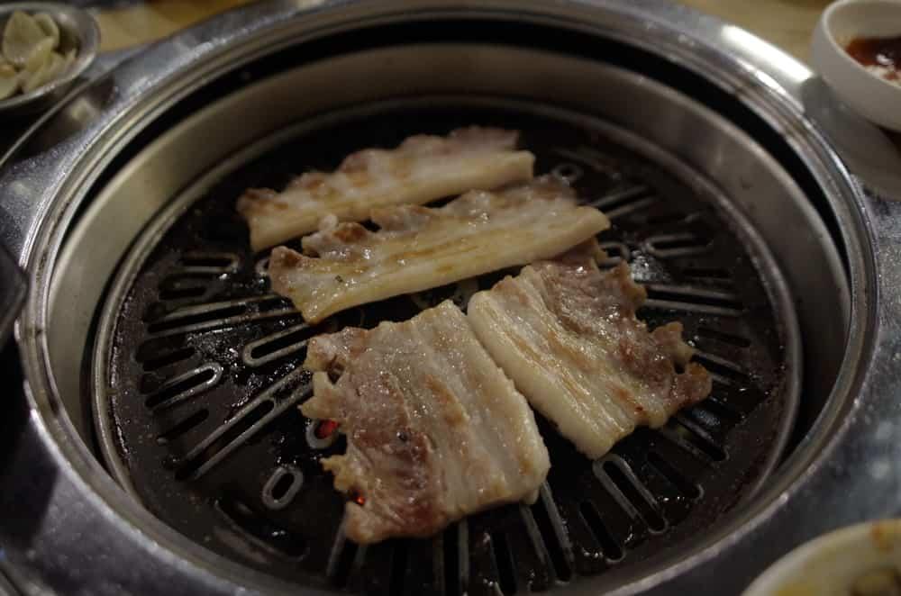 Samgyeopsal cooked