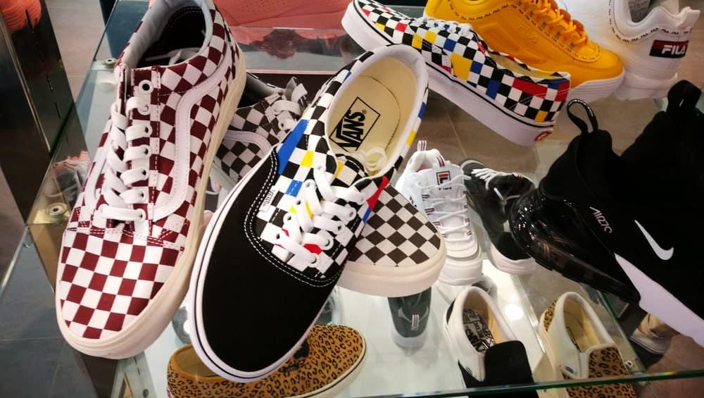 Many Vans sneakers