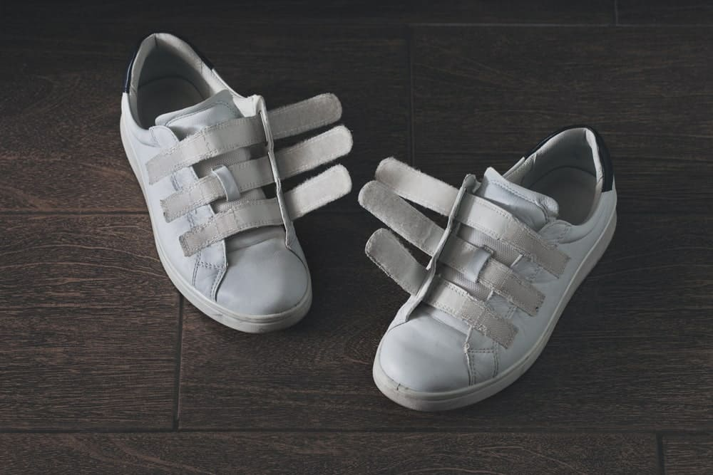White Velcro sneakers