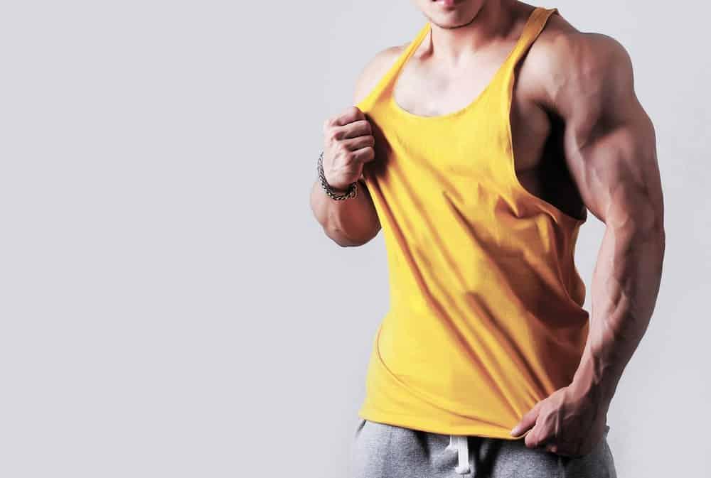 Man Wearing Gym Vest