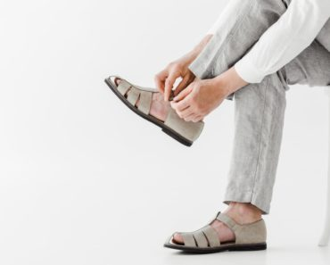 Gray Sandals in Focus