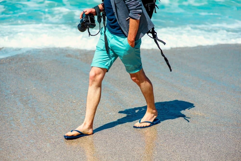 A Man Sporting Beach Attire