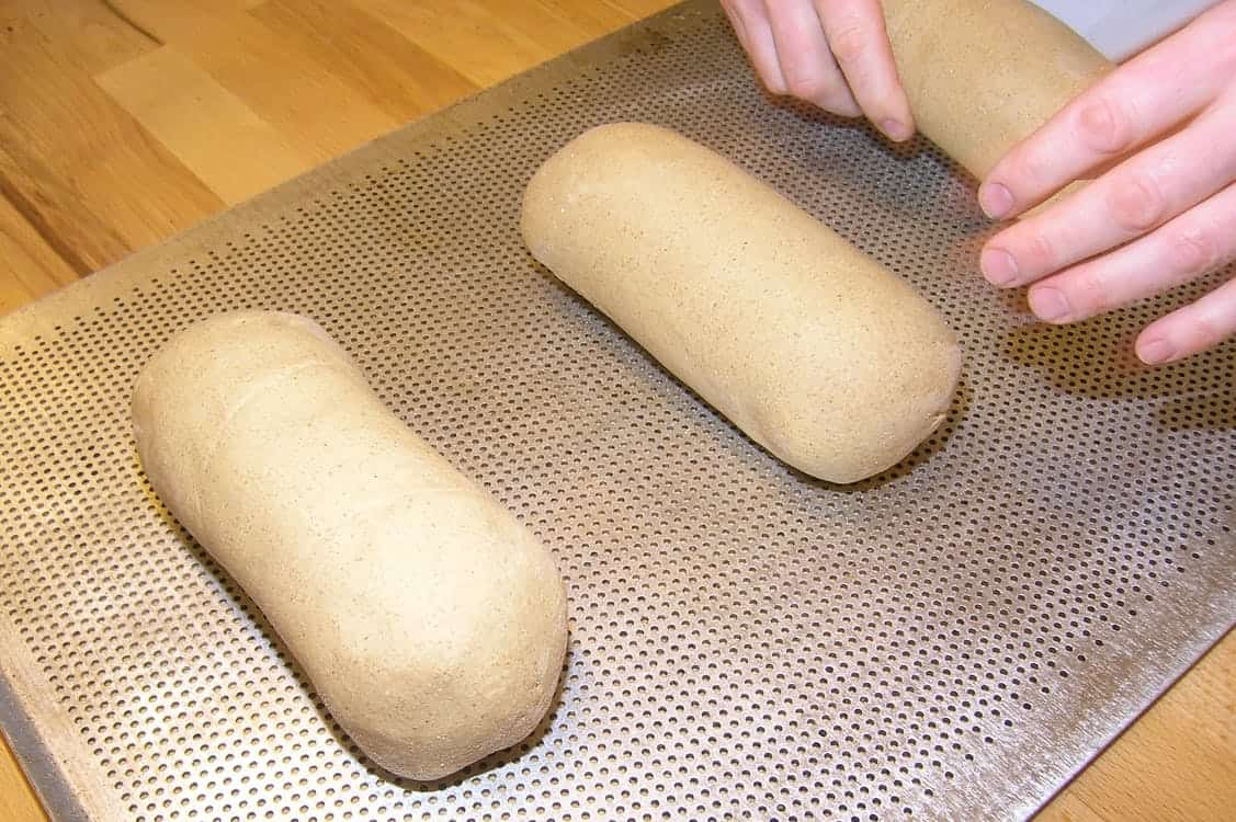Brown bread dough