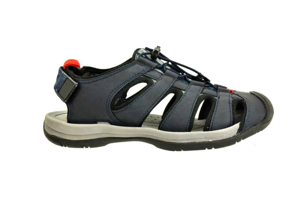 Gray-and-Black Fisherman Sandals