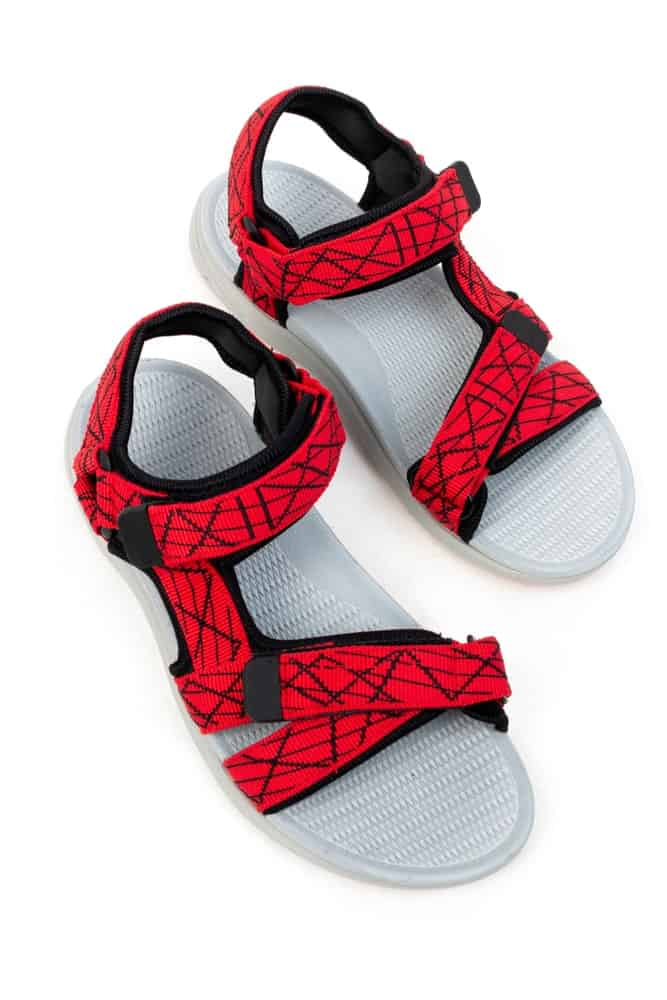 Red Gladiator Sandals