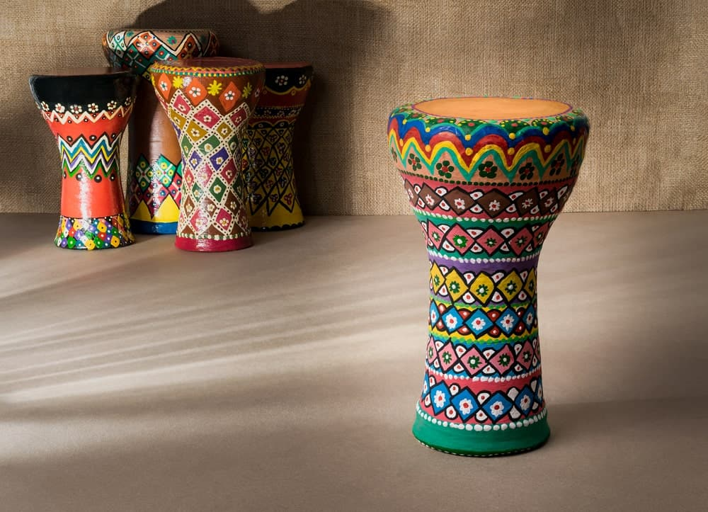 Goblet drum; one of the many types of drums