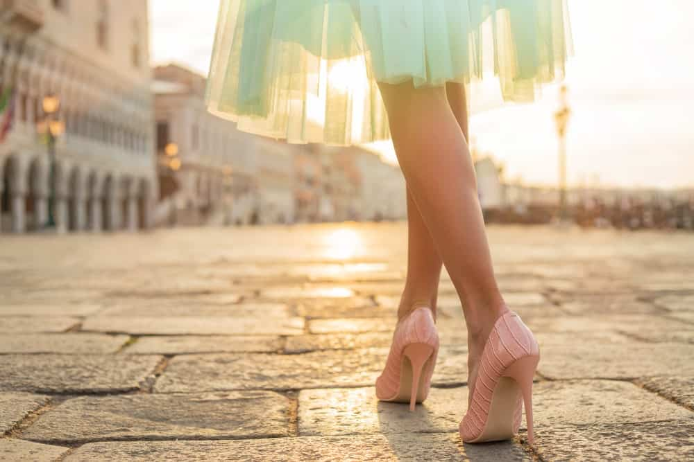 A Woman with Gorgeous Heels