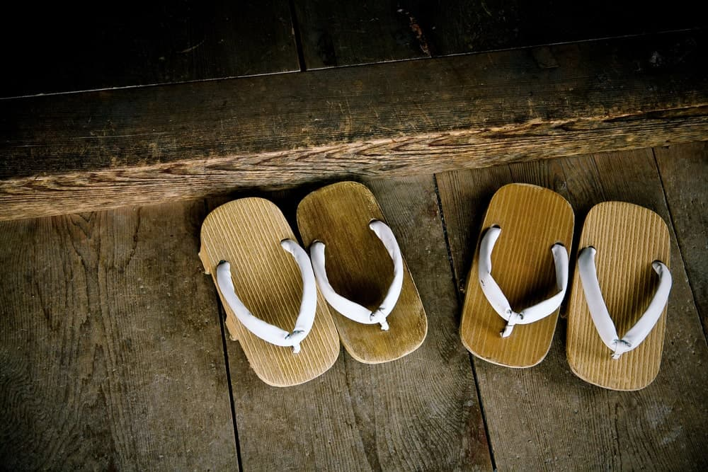 Two Pairs of Wood Sandals