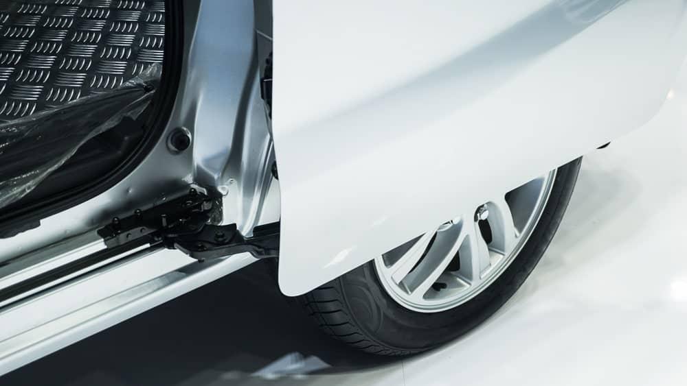 A Close-Up of a Car with Sliding Doors