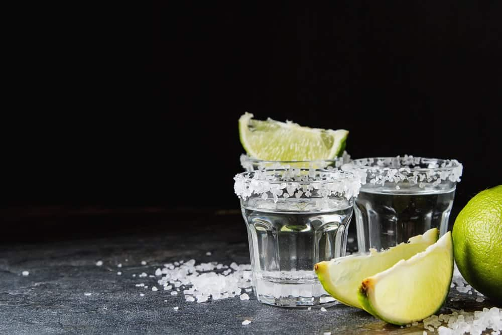 Shots of Silver Tequila