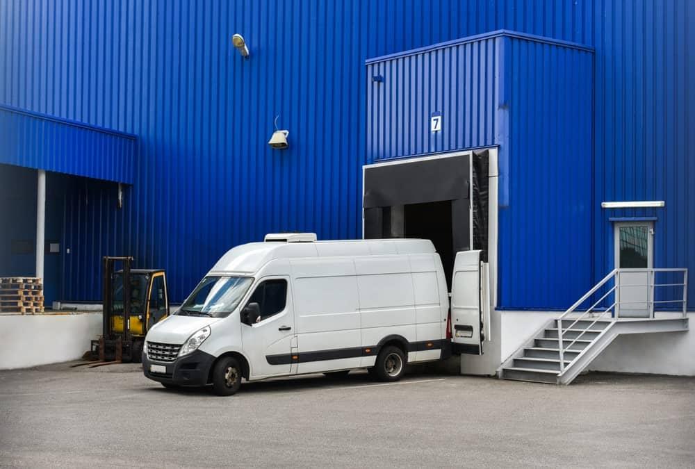 A large cargo van with pocket doors