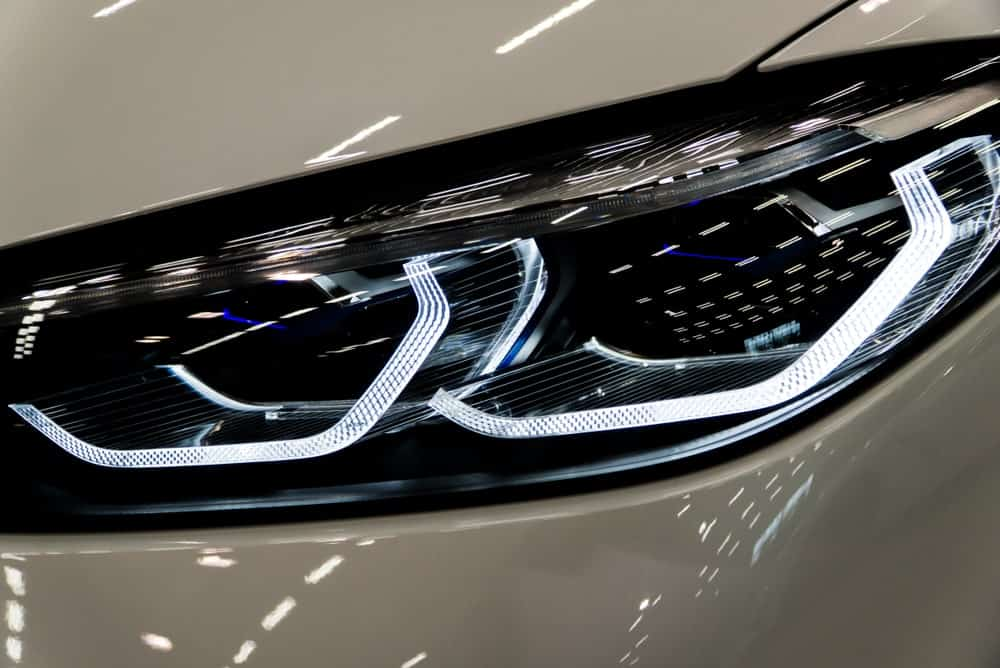 Laser headlights of BMW