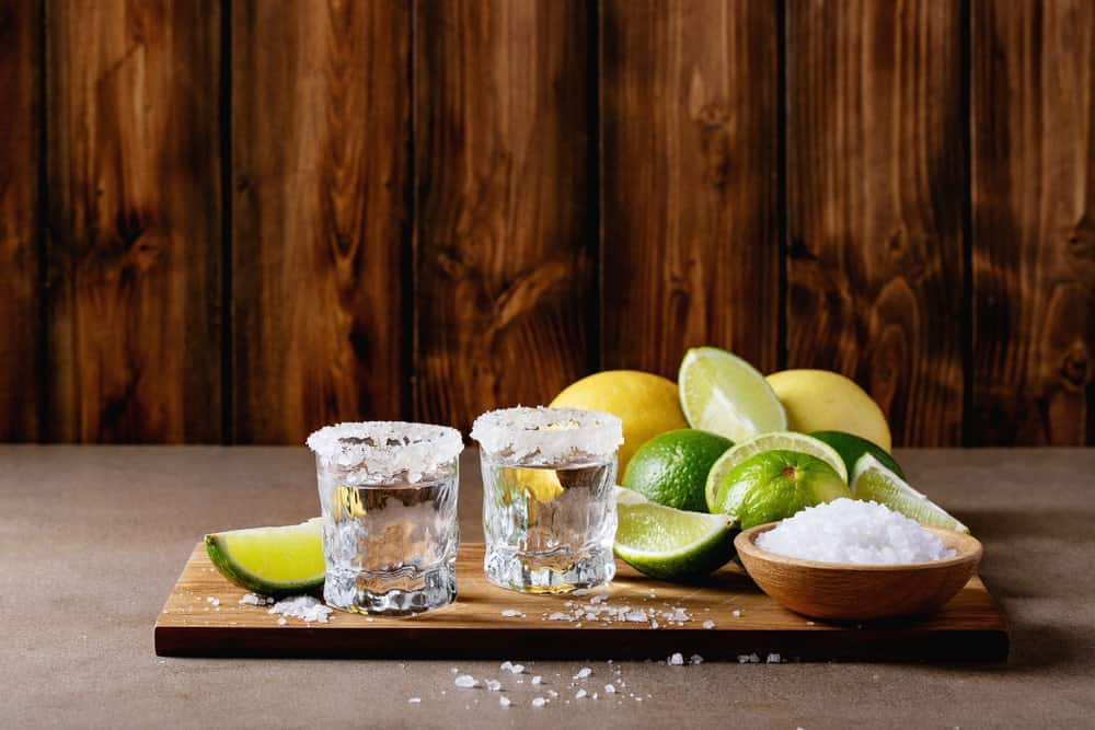 Serving tequila for drinking