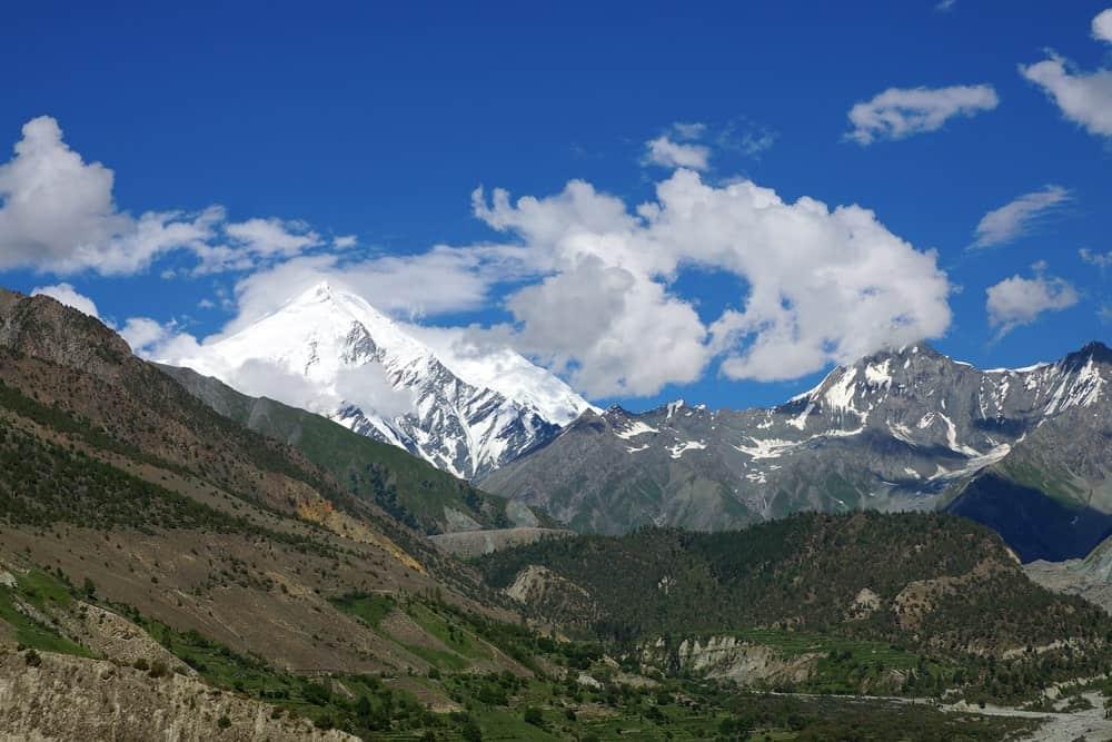 Surrounding landscape of the Haramosh Peak in Pakistan.