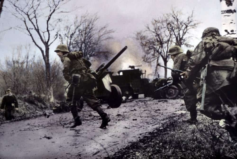Nazi soldiers in action