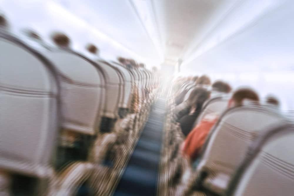 Turbulence inside a plane.