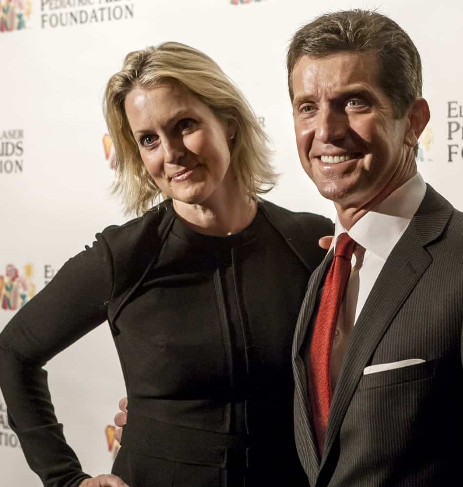 Alex Gorsky and Ali Wentworth at the Global Champions of A Mother's Fight Awards Dinner on February 20, 2013 in New York