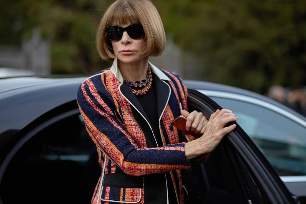 Anna Wintour arrives at Tod's fashion show, Milan Fashion Week Fall/Winter 2016.