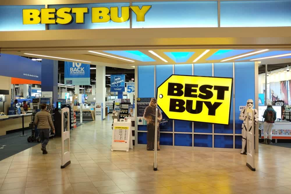 Best Buy interior in Atlantic Avenue store.