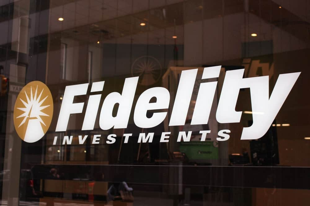 Fidelity Investments signage at an office building.