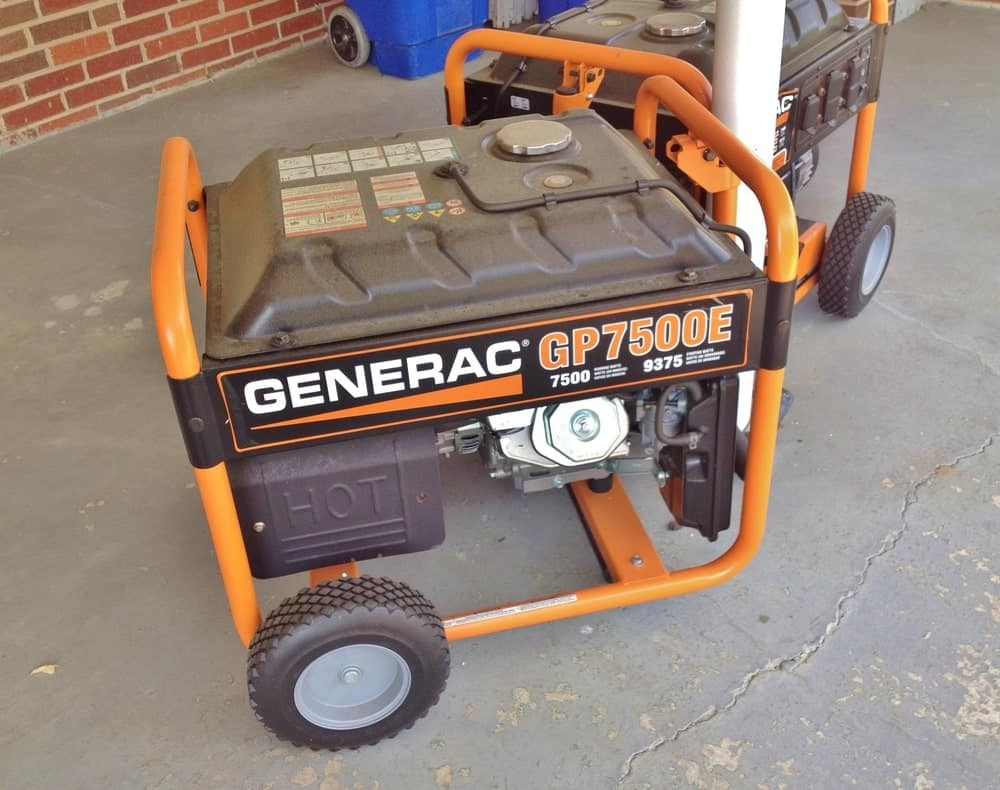 Generac GP7500E 7500-Watt Gasoline at a fundraising event.