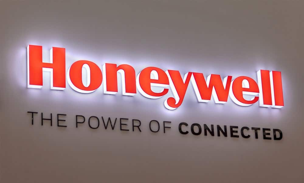 Honeywell wall signage