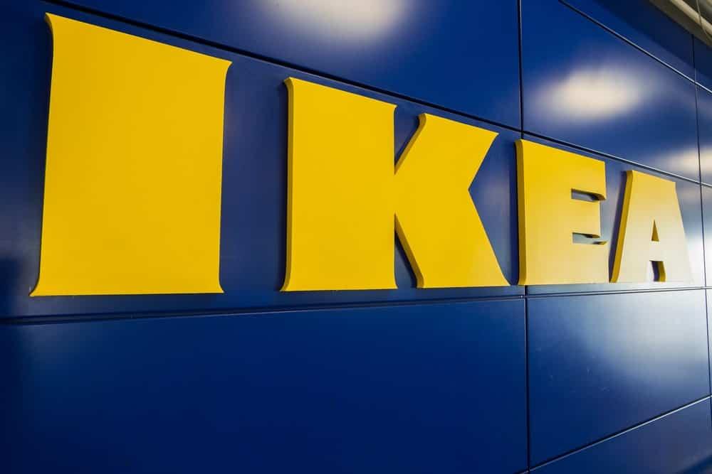 IKEA company logo at a store