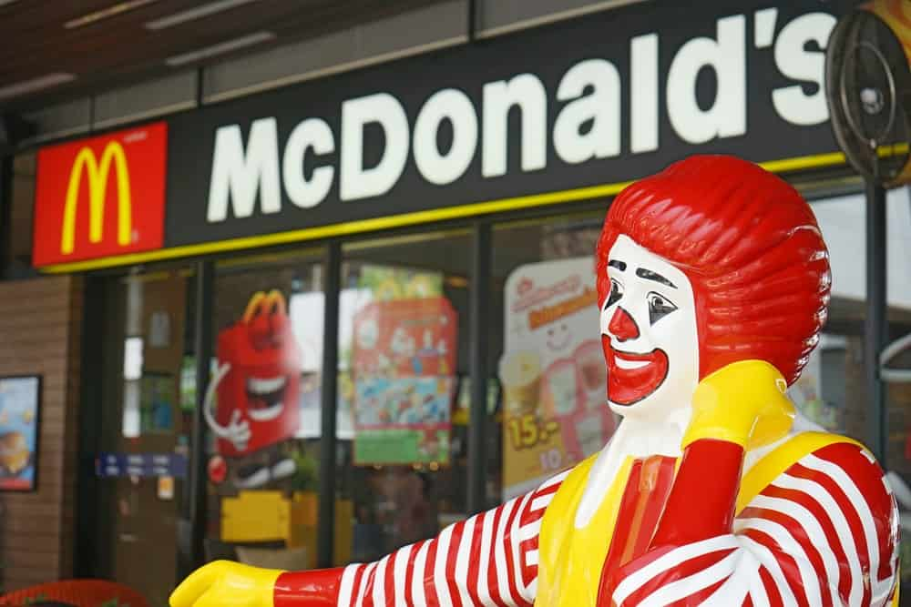 Ronald McDonald at McDonald's restaurant on September 22, 2014 in Bangkok, Thailand.